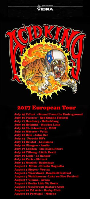 acid king tour poster