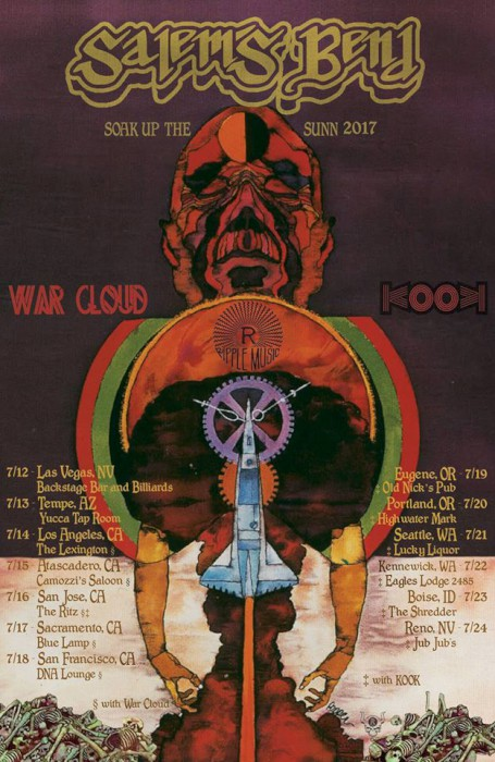 salem's bend war cloud kook tour poster