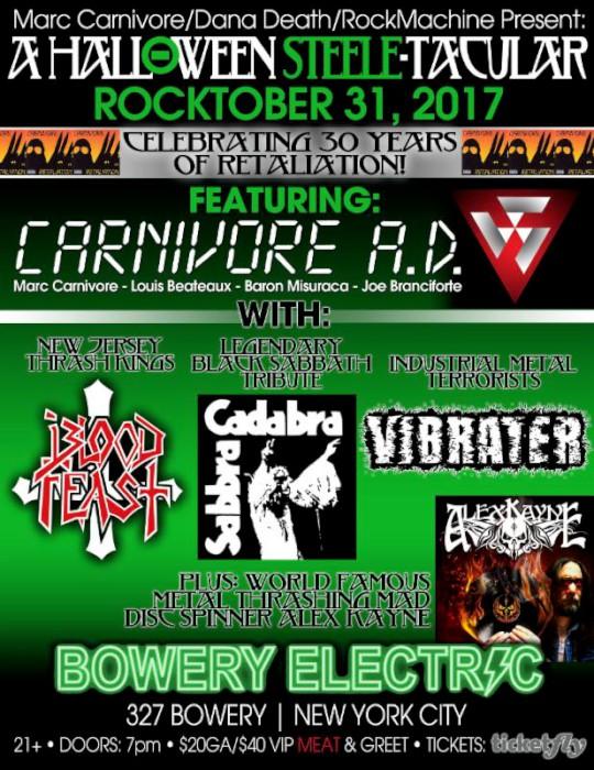 carnivore a.d. show flyer
