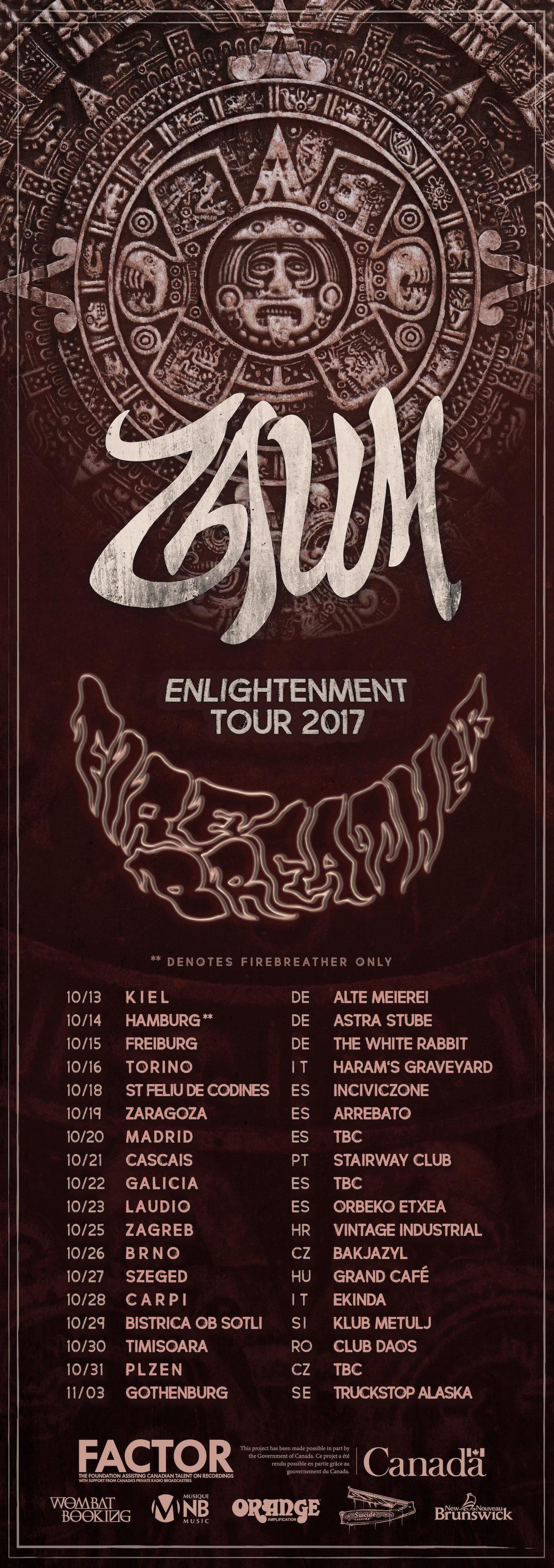 firebreather zaum tour poster