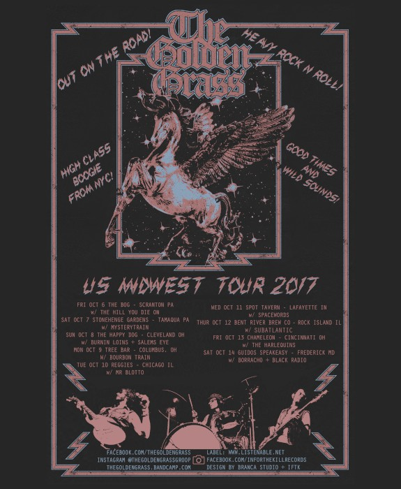 the golden grass midwest tour poster