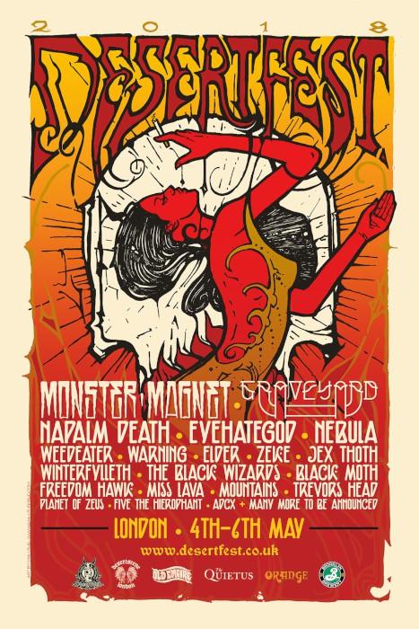 desertfest london 2018 poster
