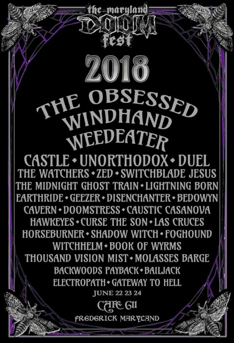 maryland doom fest 2018 poster