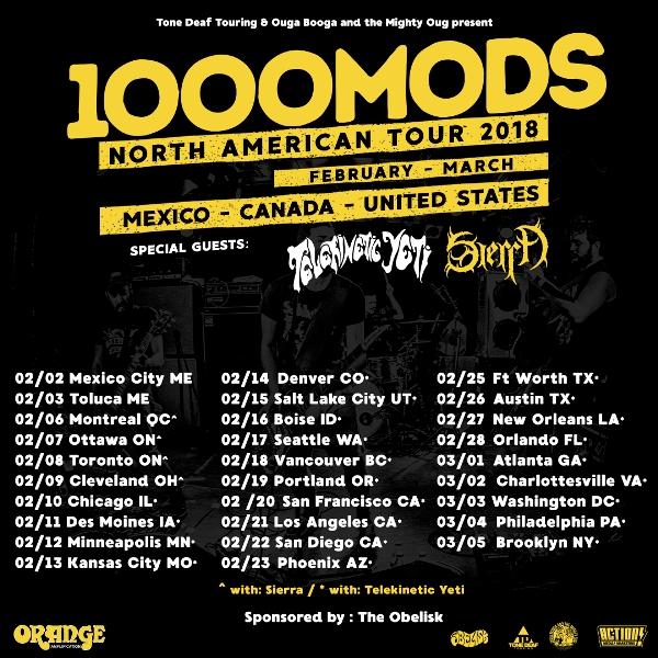1000mods tour