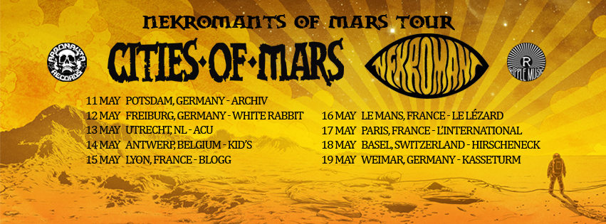CITIES OF MARS NEKROMANT TOUR BANNER