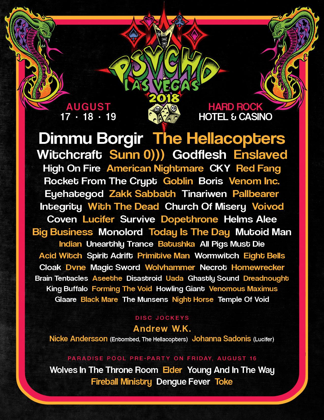 Psycho Las Vegas 2018 poster