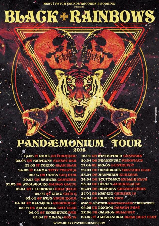 black rainbows tour poster