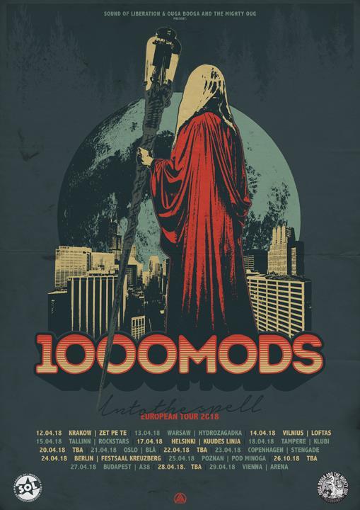 1000mods tour poster