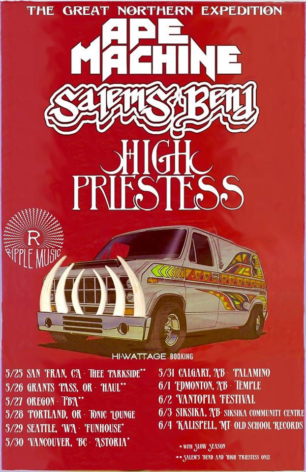ape machine salems bend high priestess tour poster