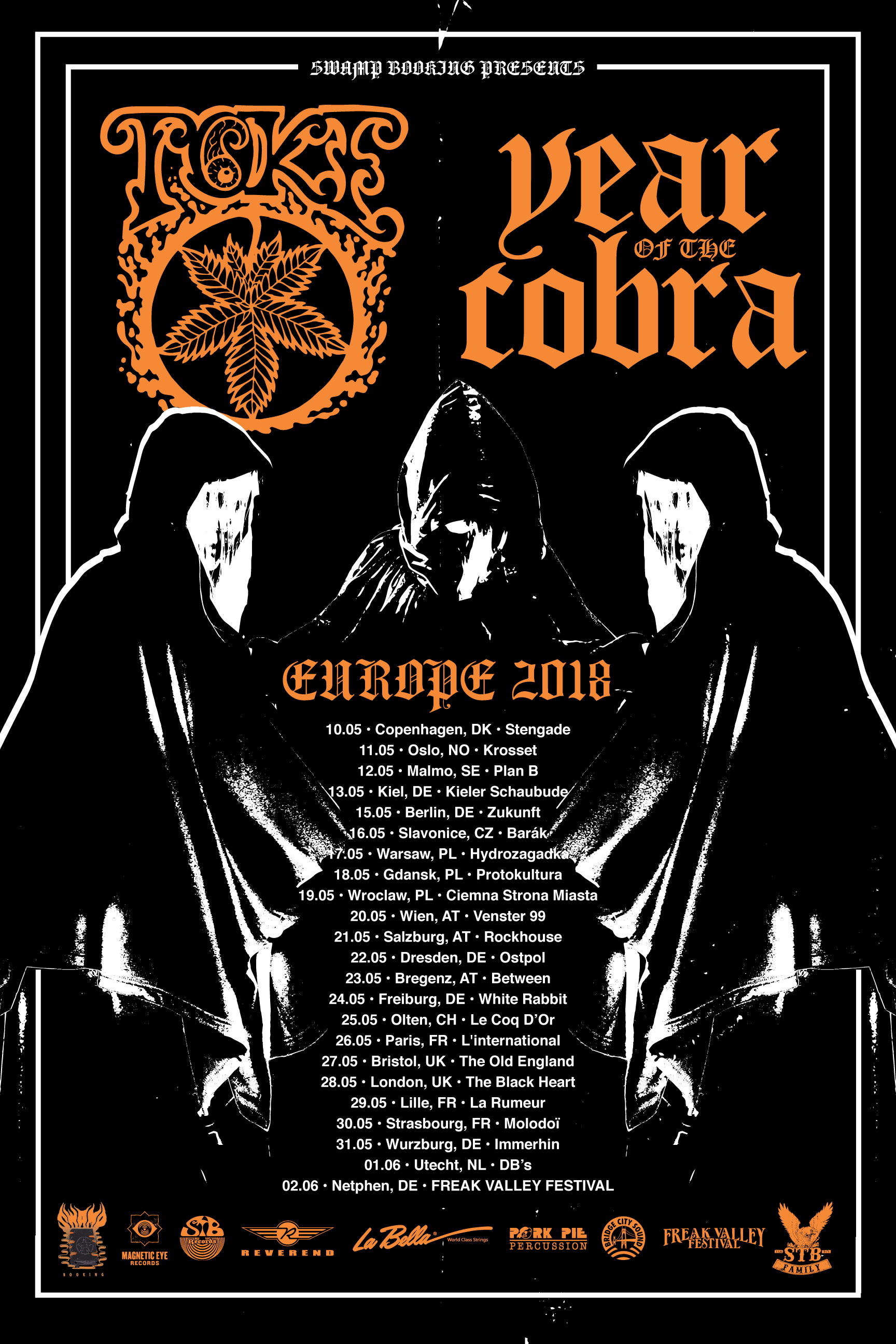year of the cobra toke tour poster