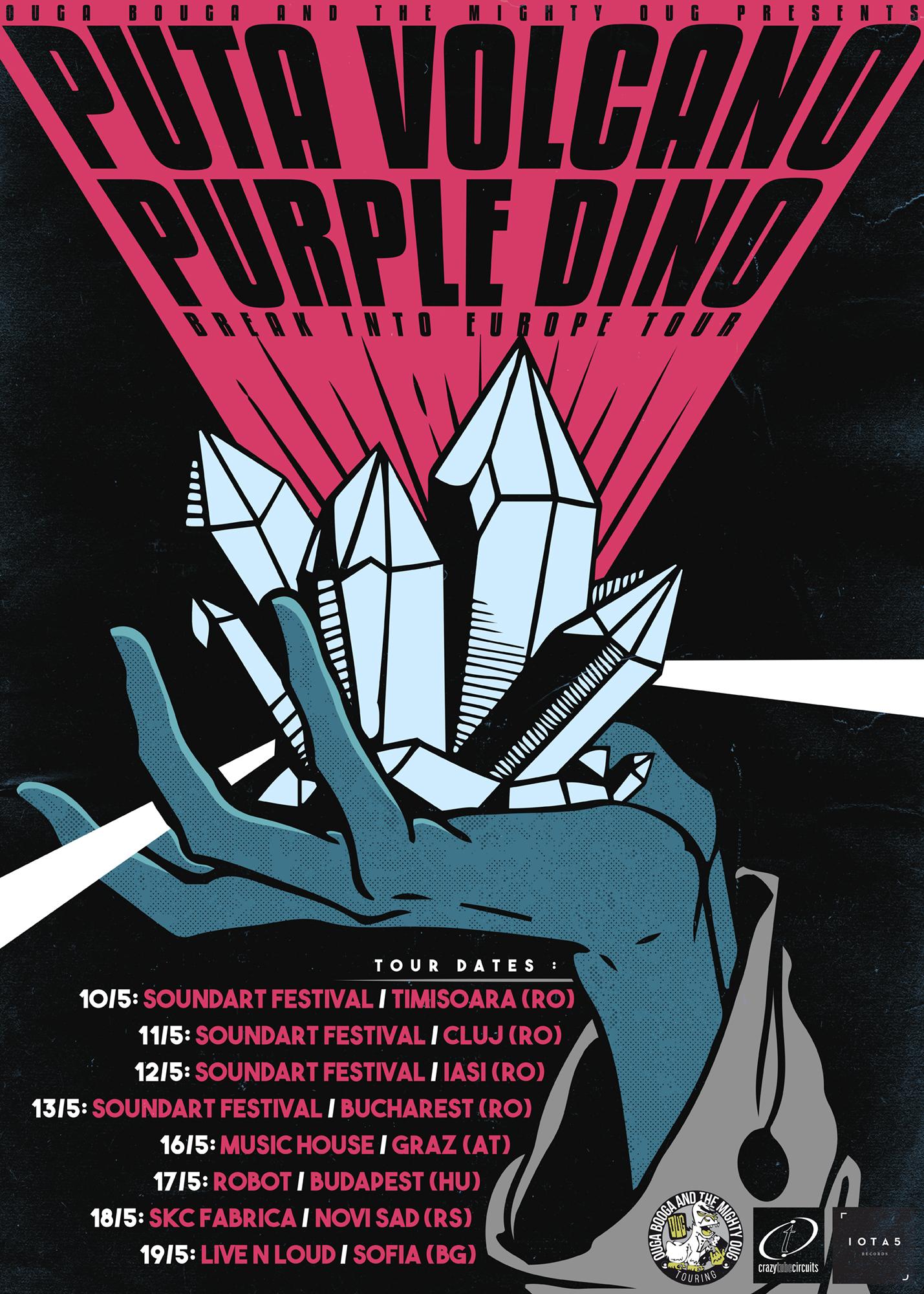 Puta Volcano + Purple Dino Tour Poster