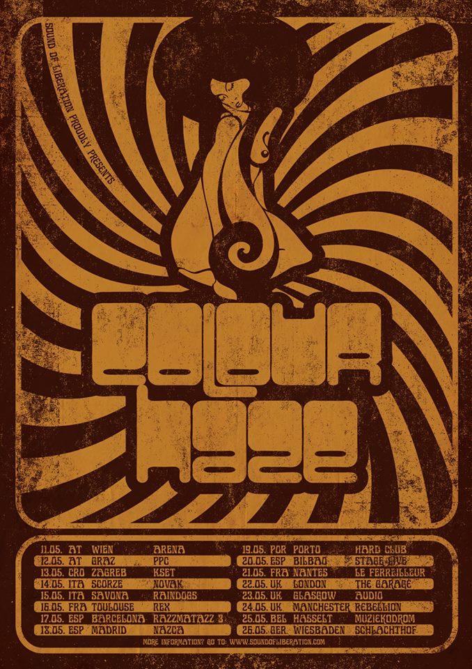 colour haze tour poster