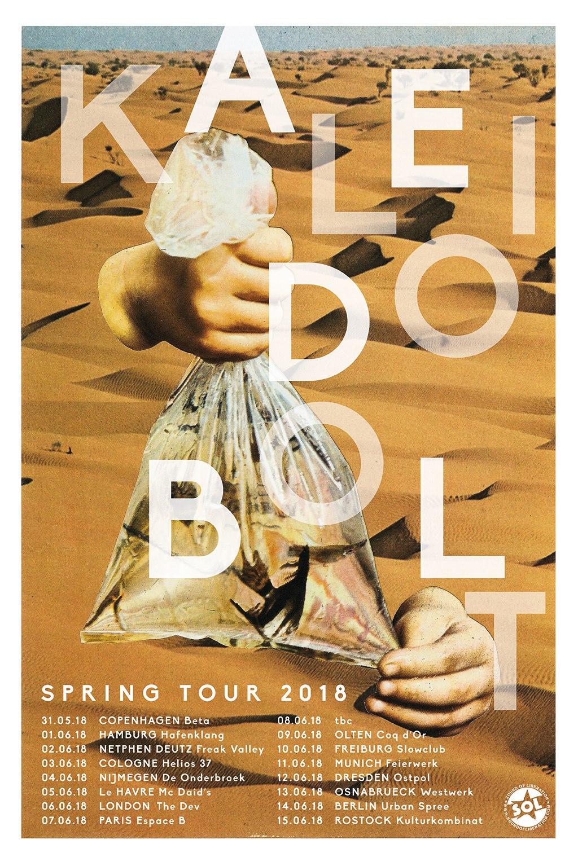 kaleidobolt tour poster