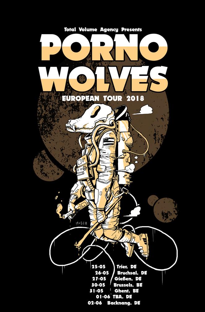 porno wolves tour poster