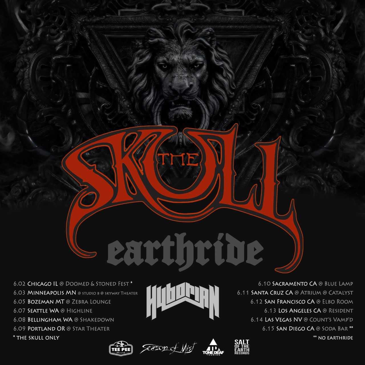 the skull tour poster