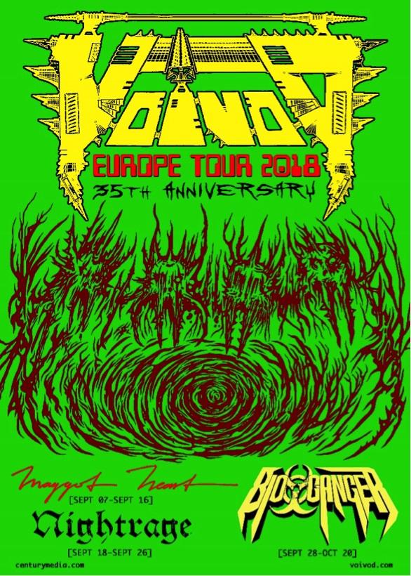 VOIVOD EURO TOUR POSTER