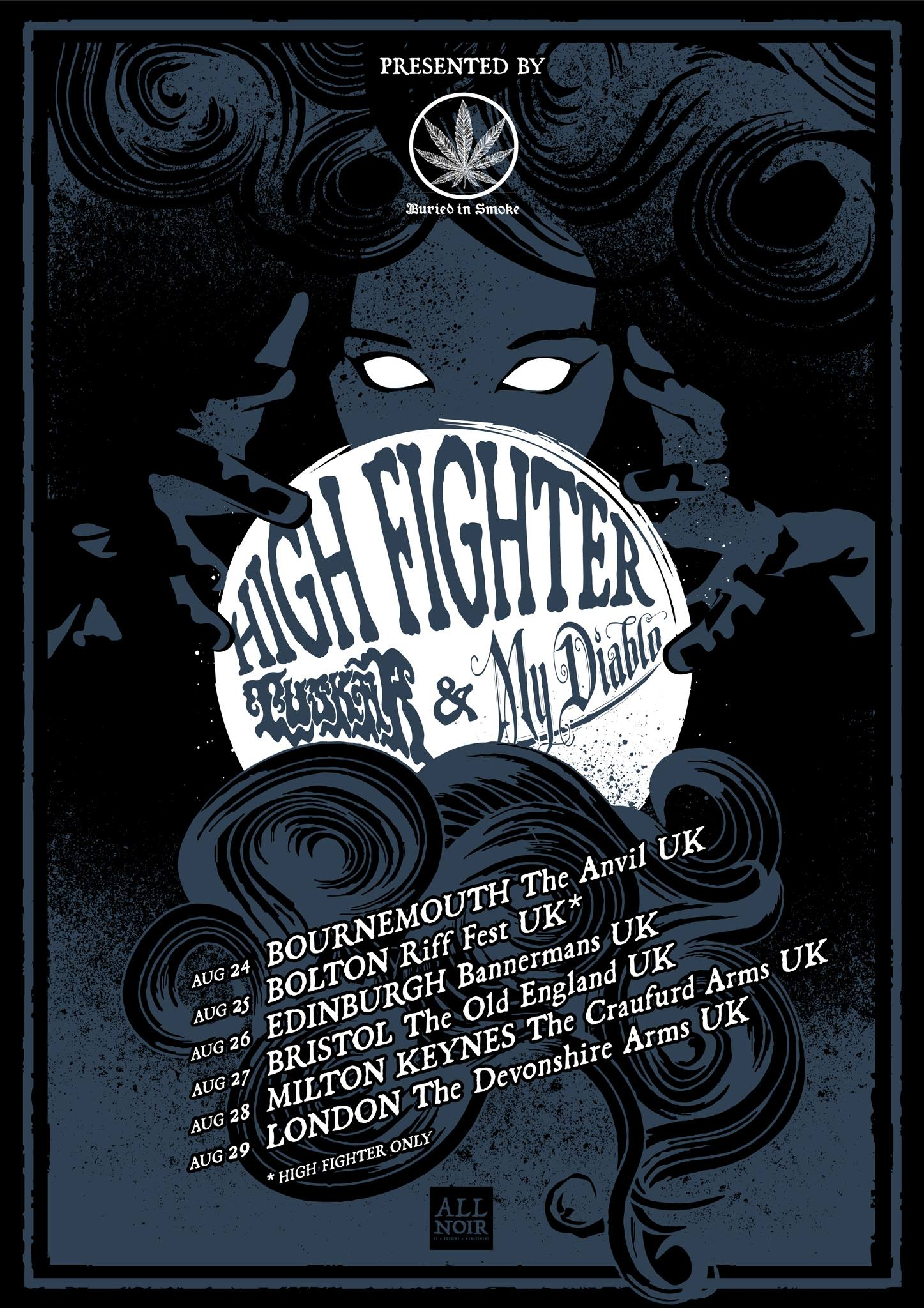 high fighter tour poster