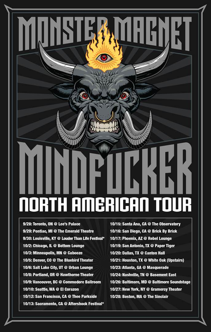 monster magnet tour poster