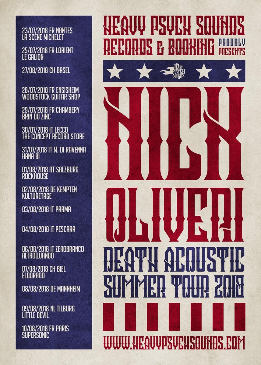 nick oliveri tour poster