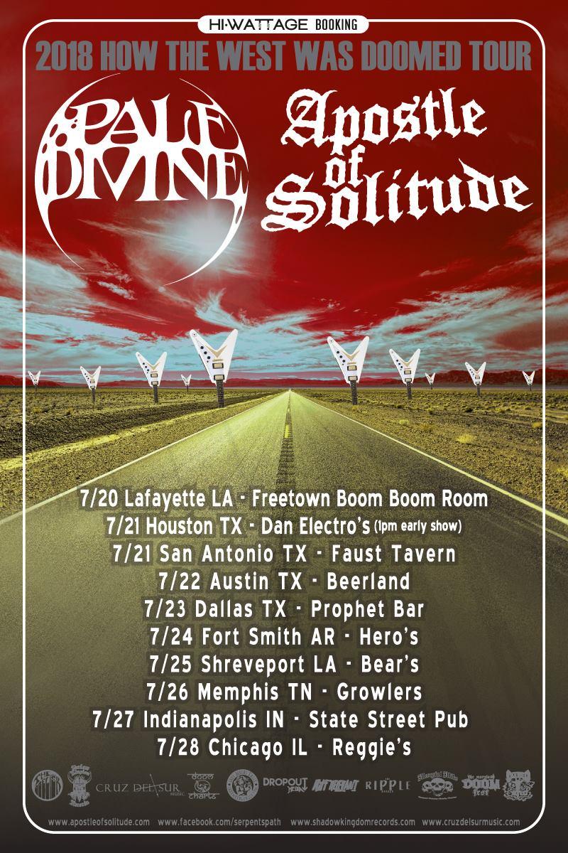 pale divine apostle of solitude tour poster