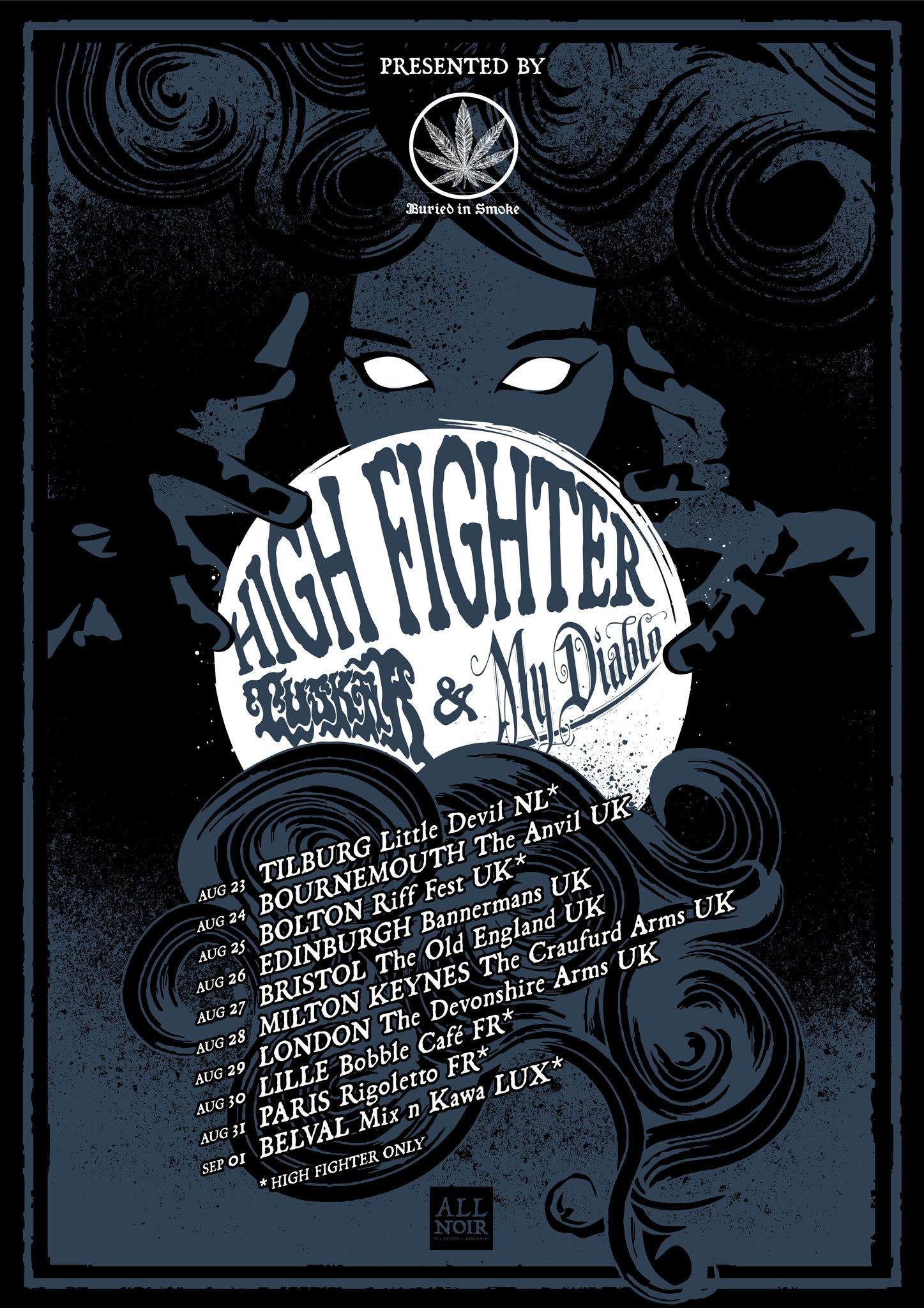 high fighter summer tour poster
