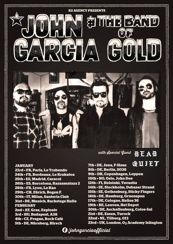 john garcia and the band of gold tour poster