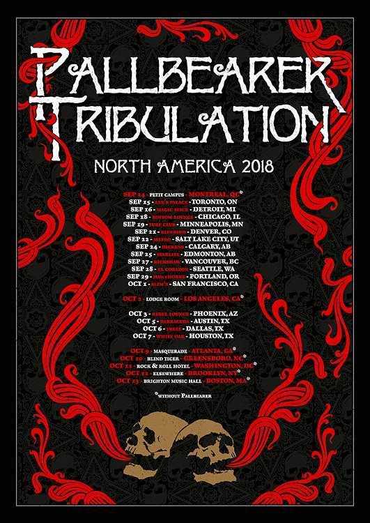 pallbearer tribulation tour