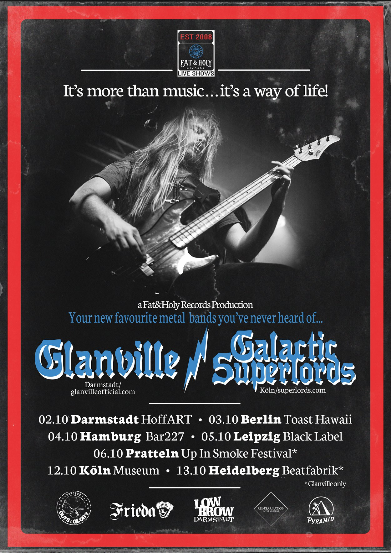 glanville galactic superlords tour