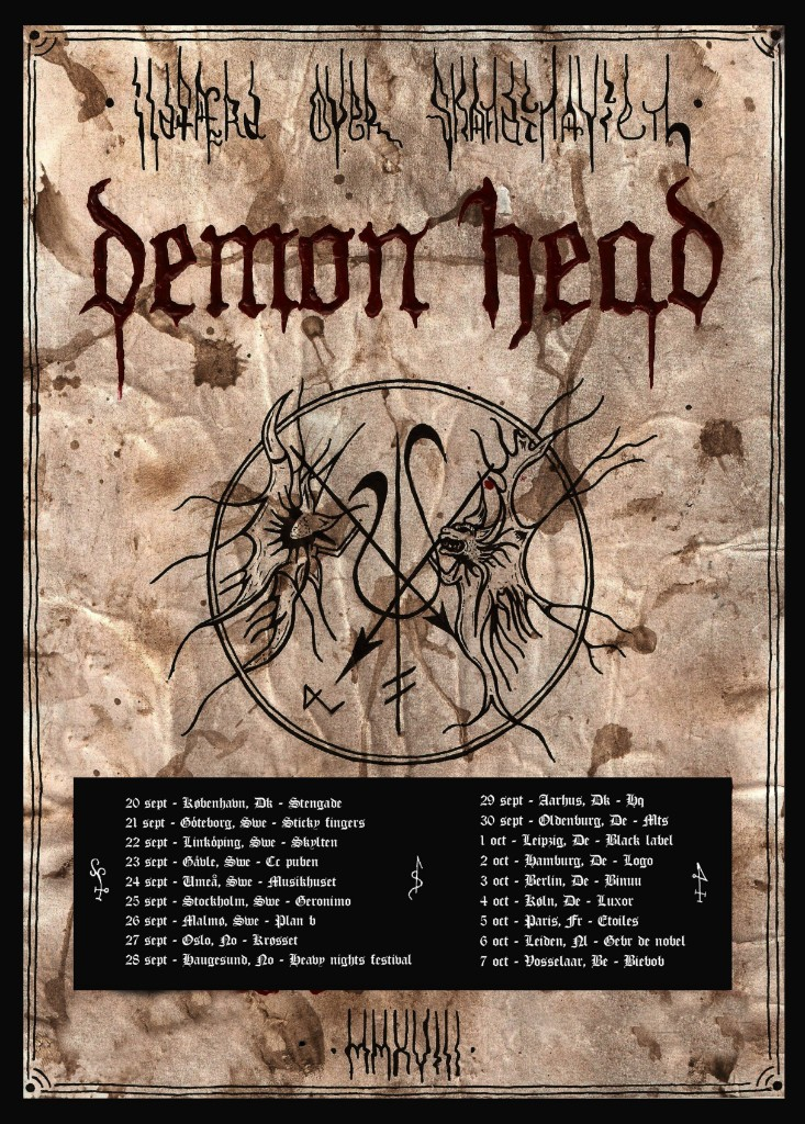 demon head tour poster