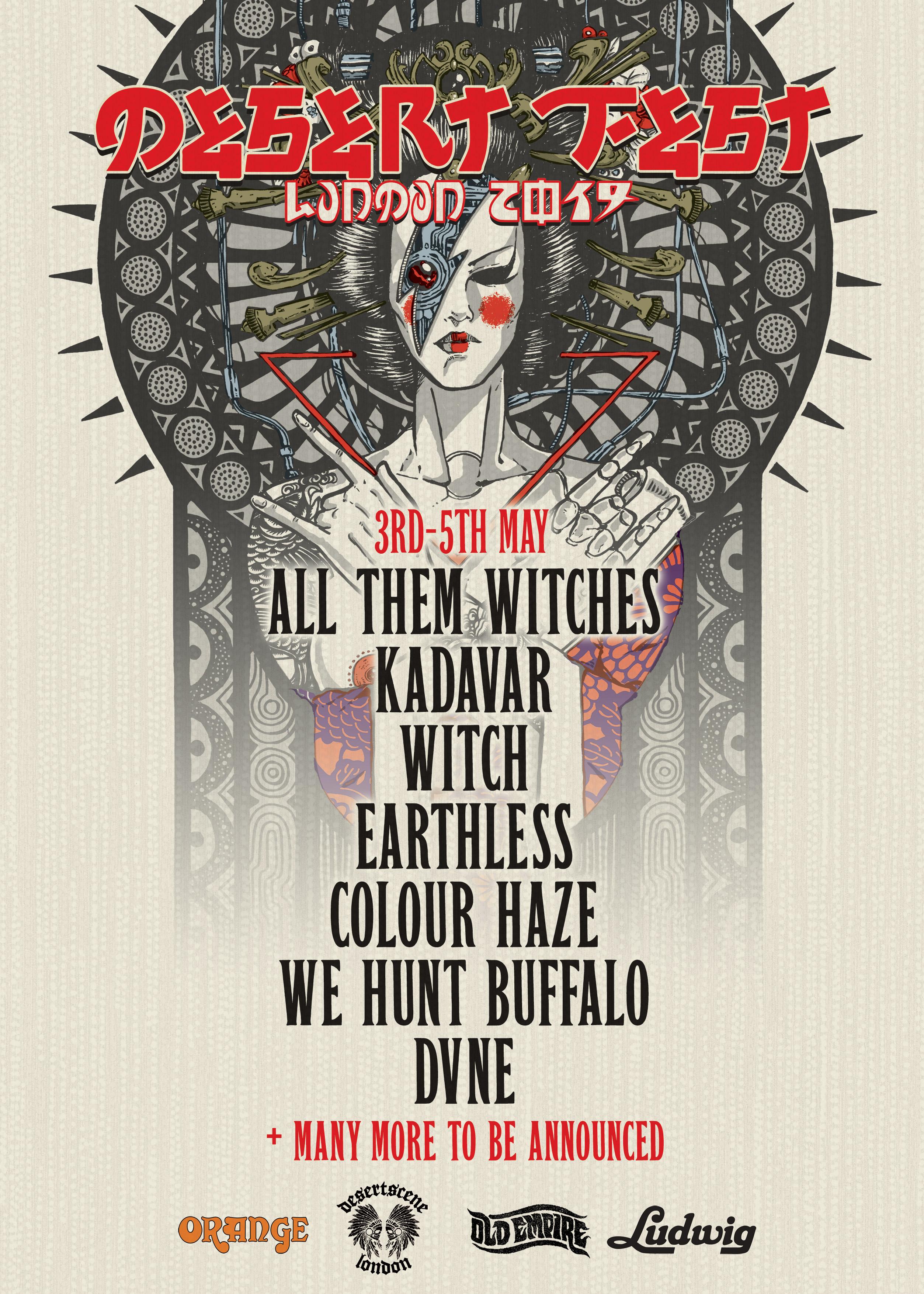 desertfest london 2019 poster