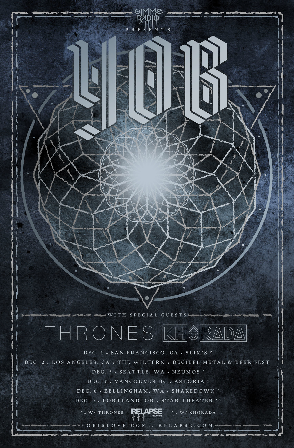 yob dec tour