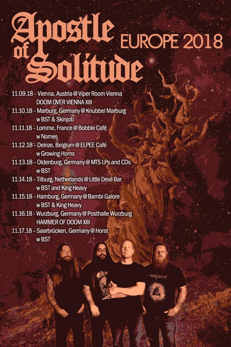 apostle of solitude euro tour poster