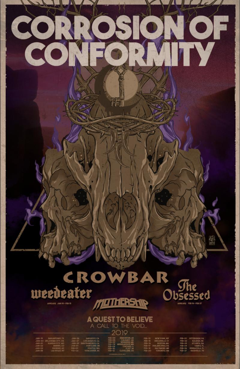 corrosion of conformity crowbar tour