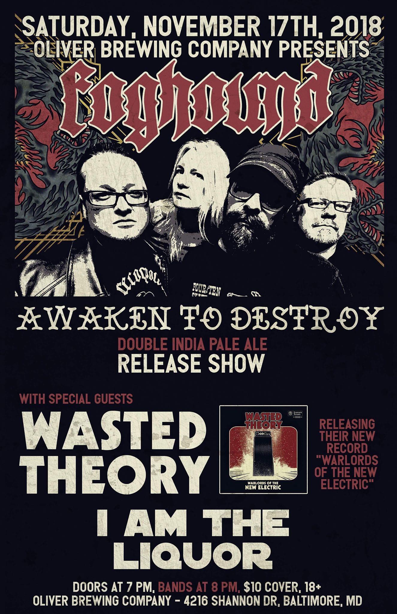 foghound awaken to destroy beer poster
