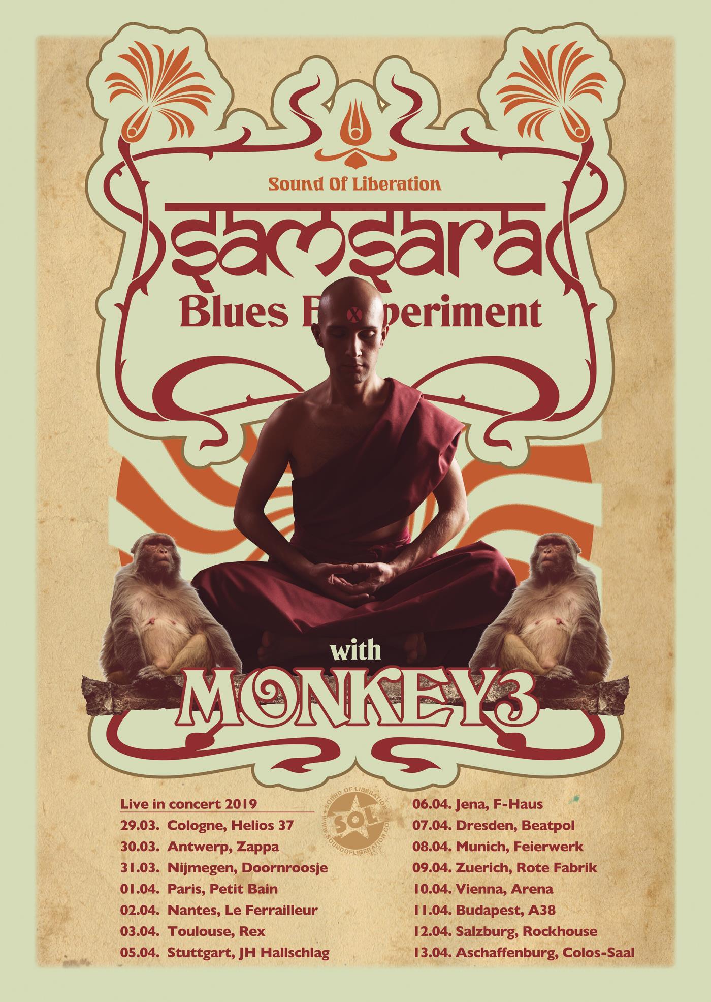 SAMSARA blues experiment monkey3 tour