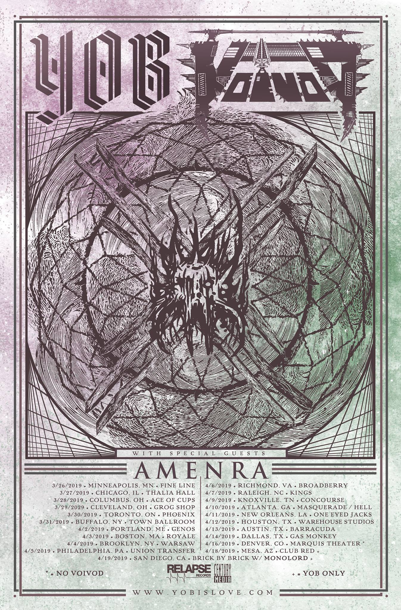 yob voivod amenra tour