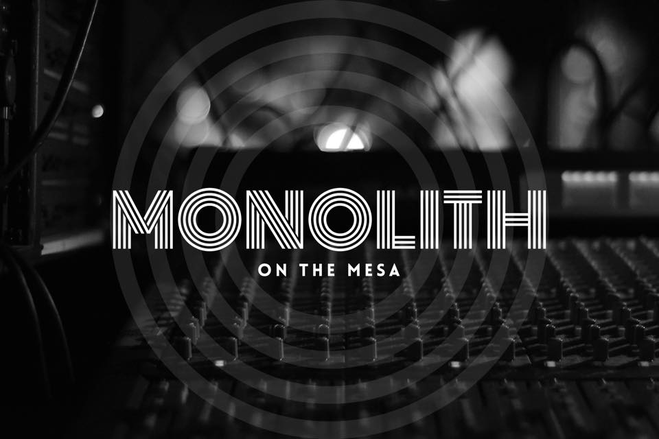 monolith on the mesa banner
