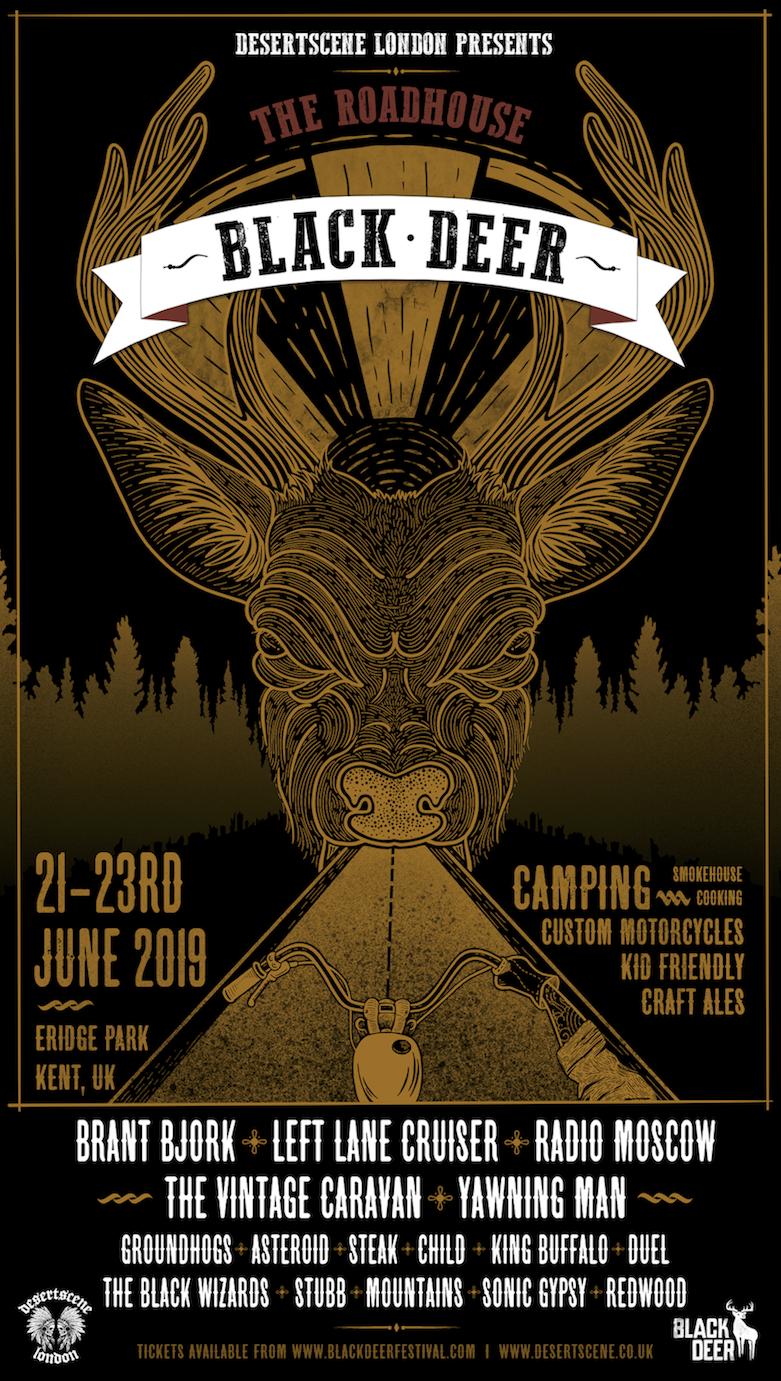 black deer fest poster
