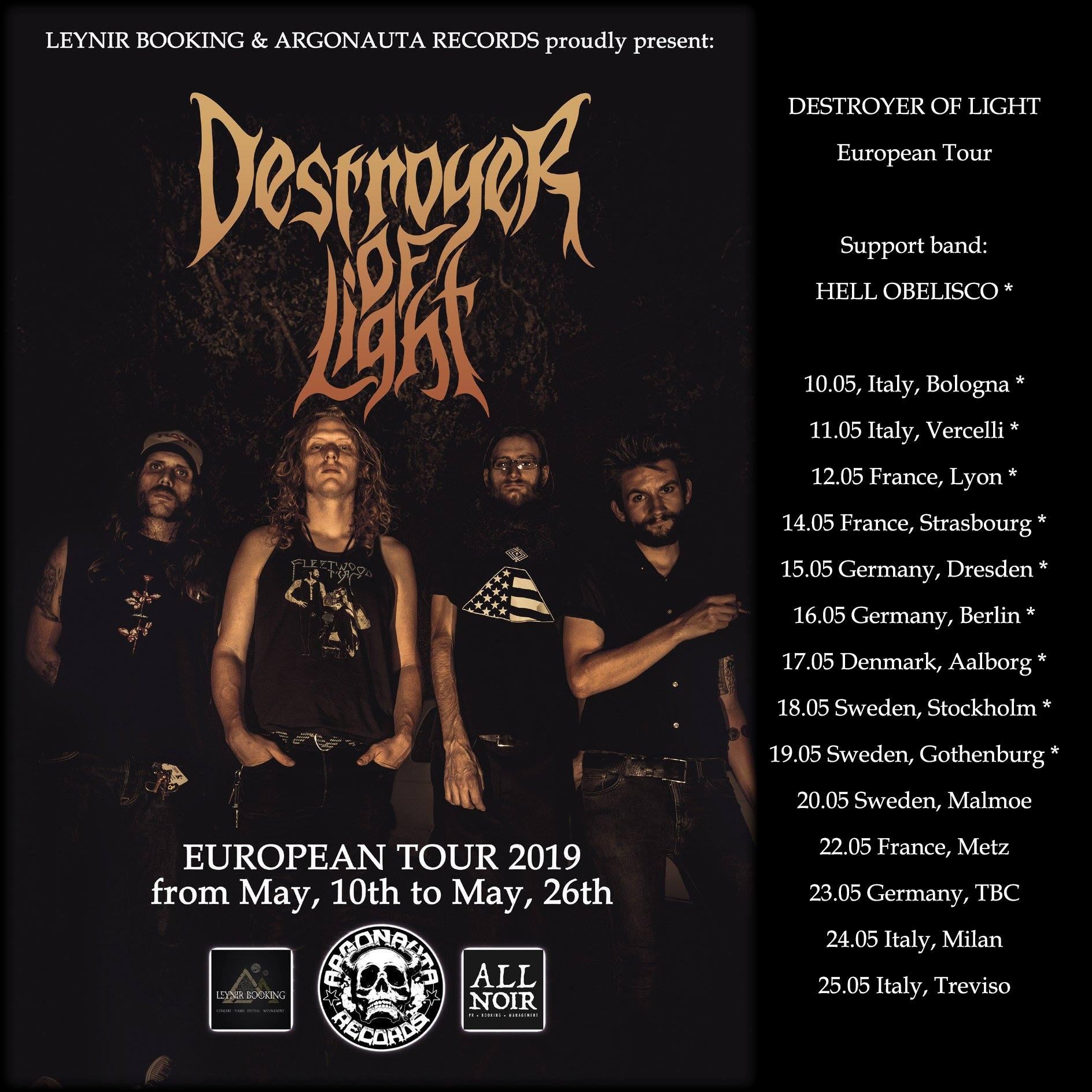 destroyer of light tour