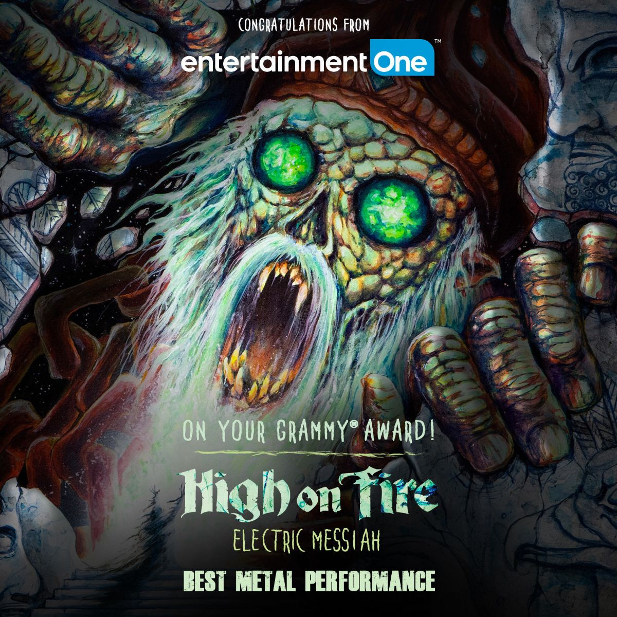 high on fire grammy