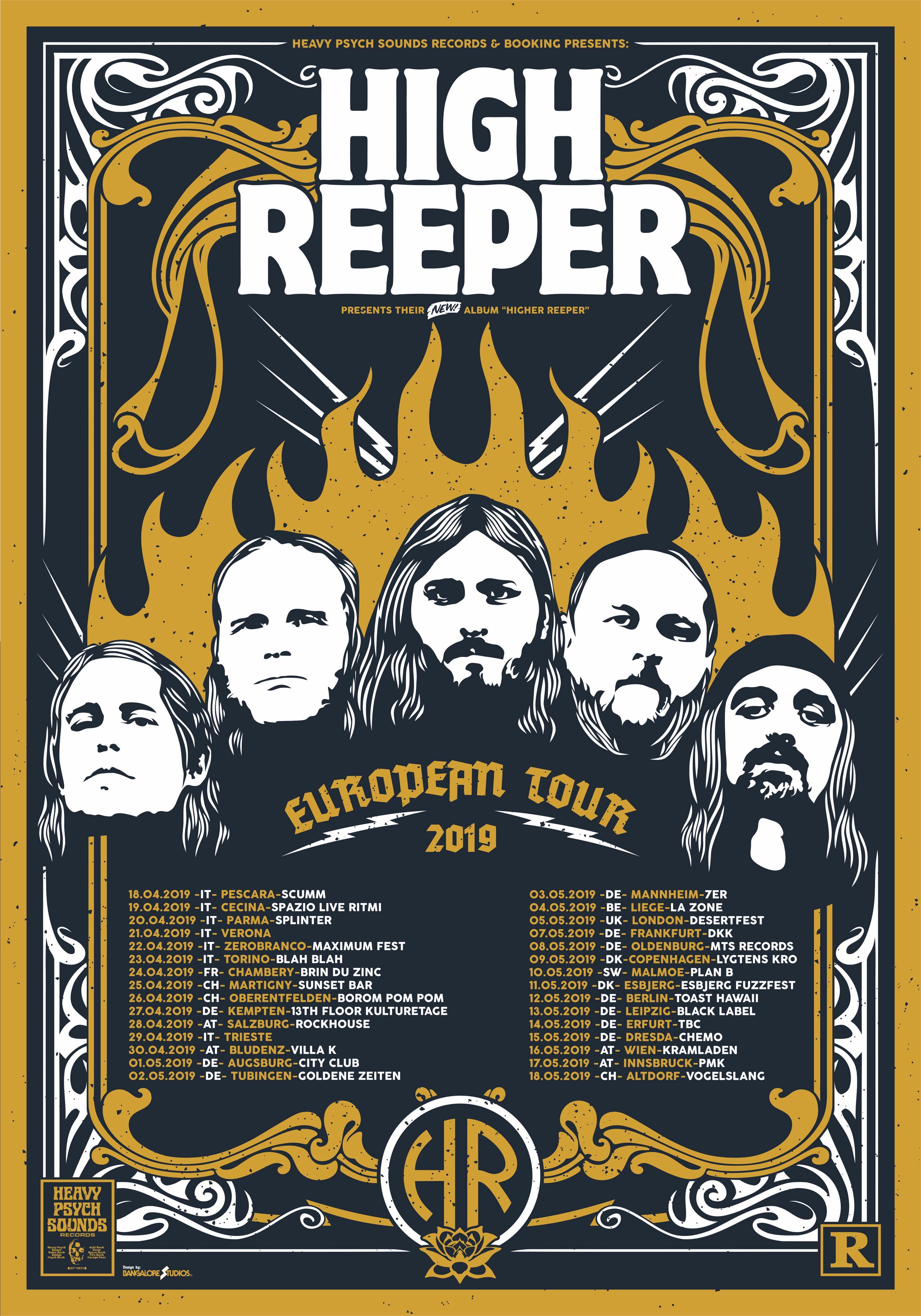 high reeper tour poster