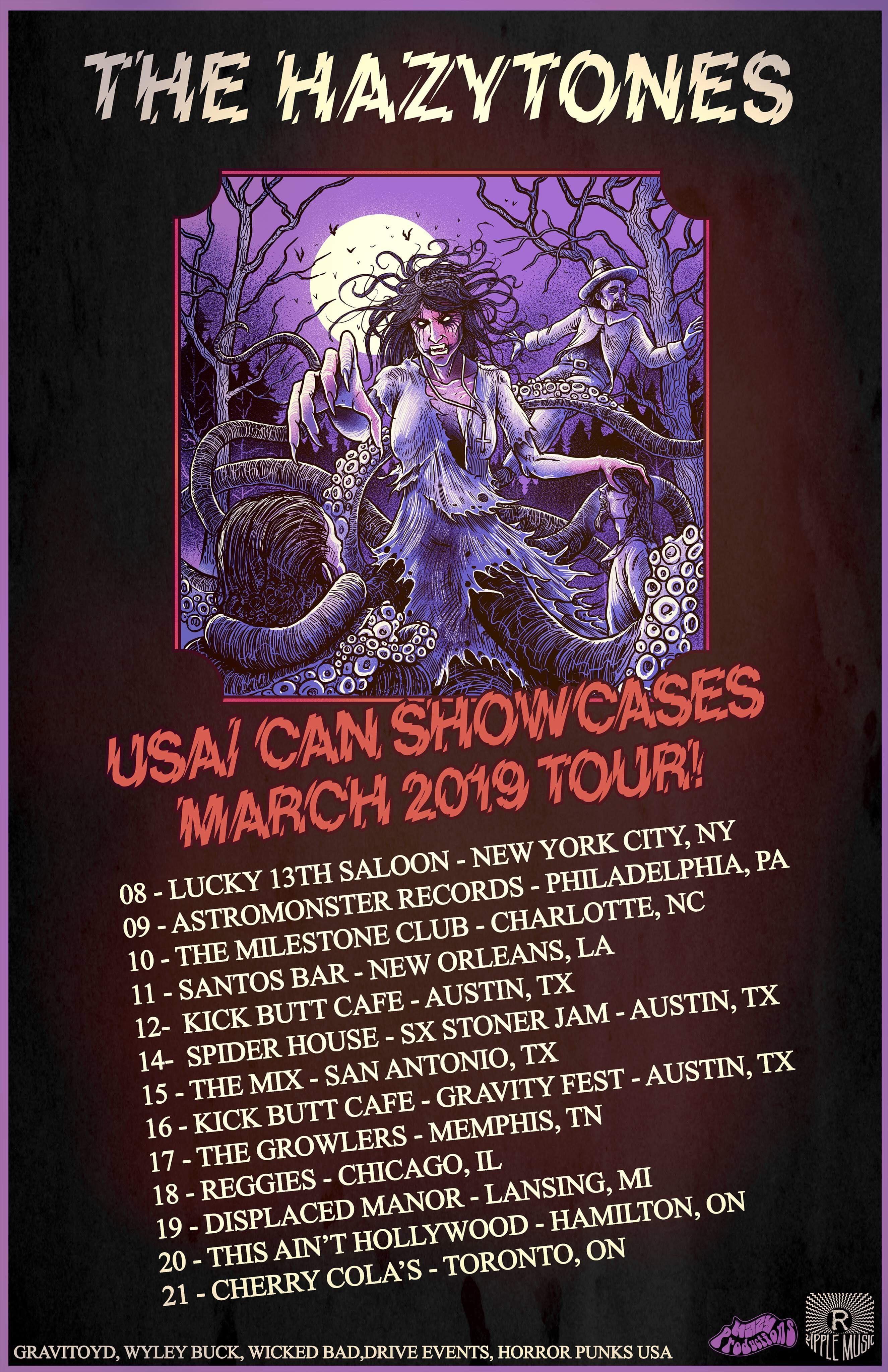 the hazytones tour poster