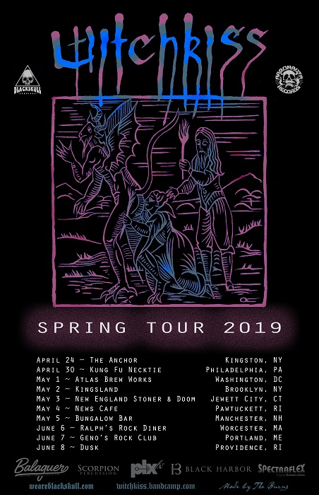 witchkiss spring tour