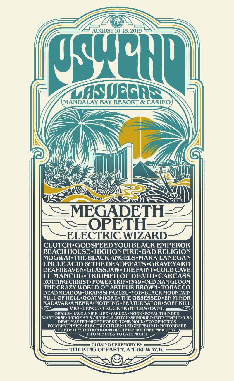 Psycho Las Vegas 2019 Full Lineup