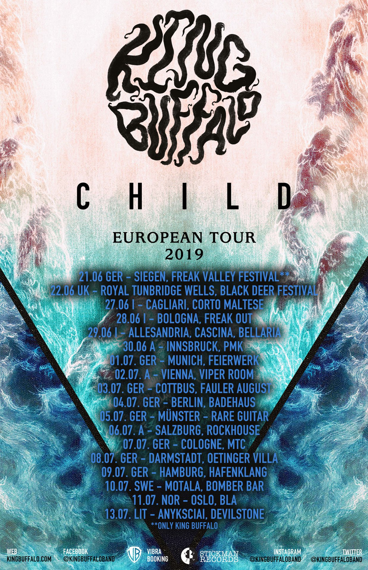 king buffalo euro tour