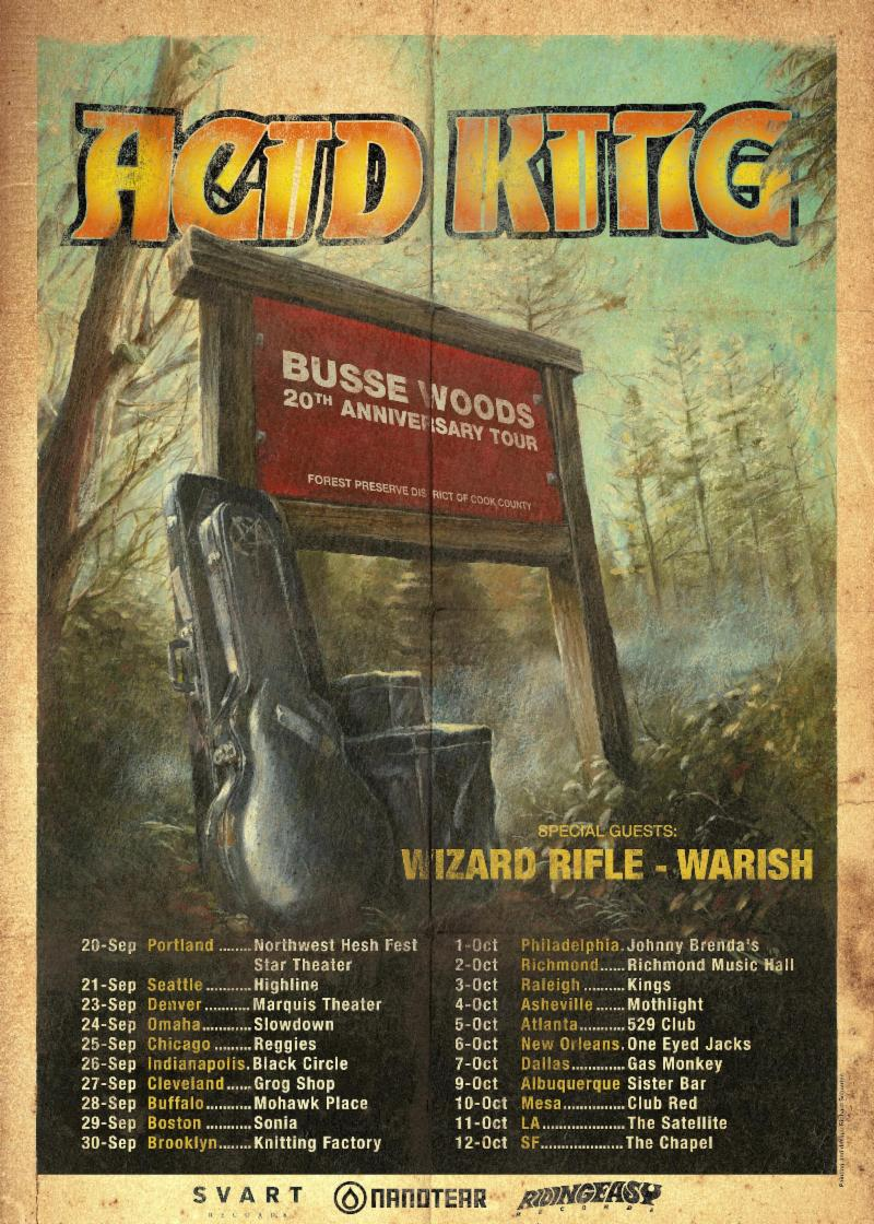 Acid King busse woods tour poster