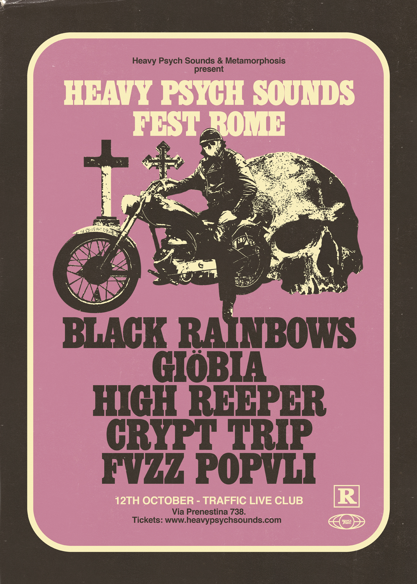 heavy psych sounds fest rome poster
