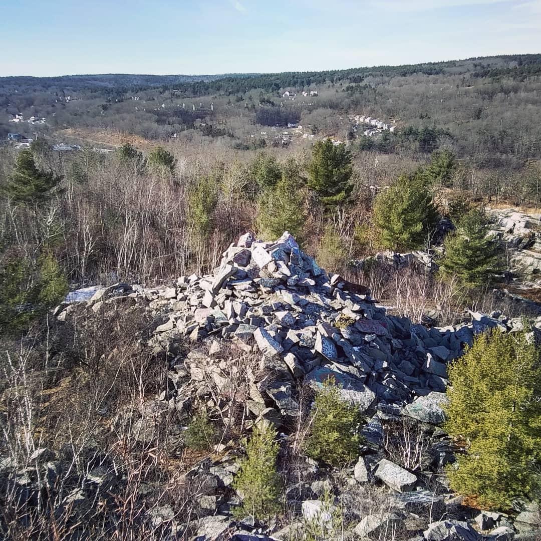 across tundras rock pile