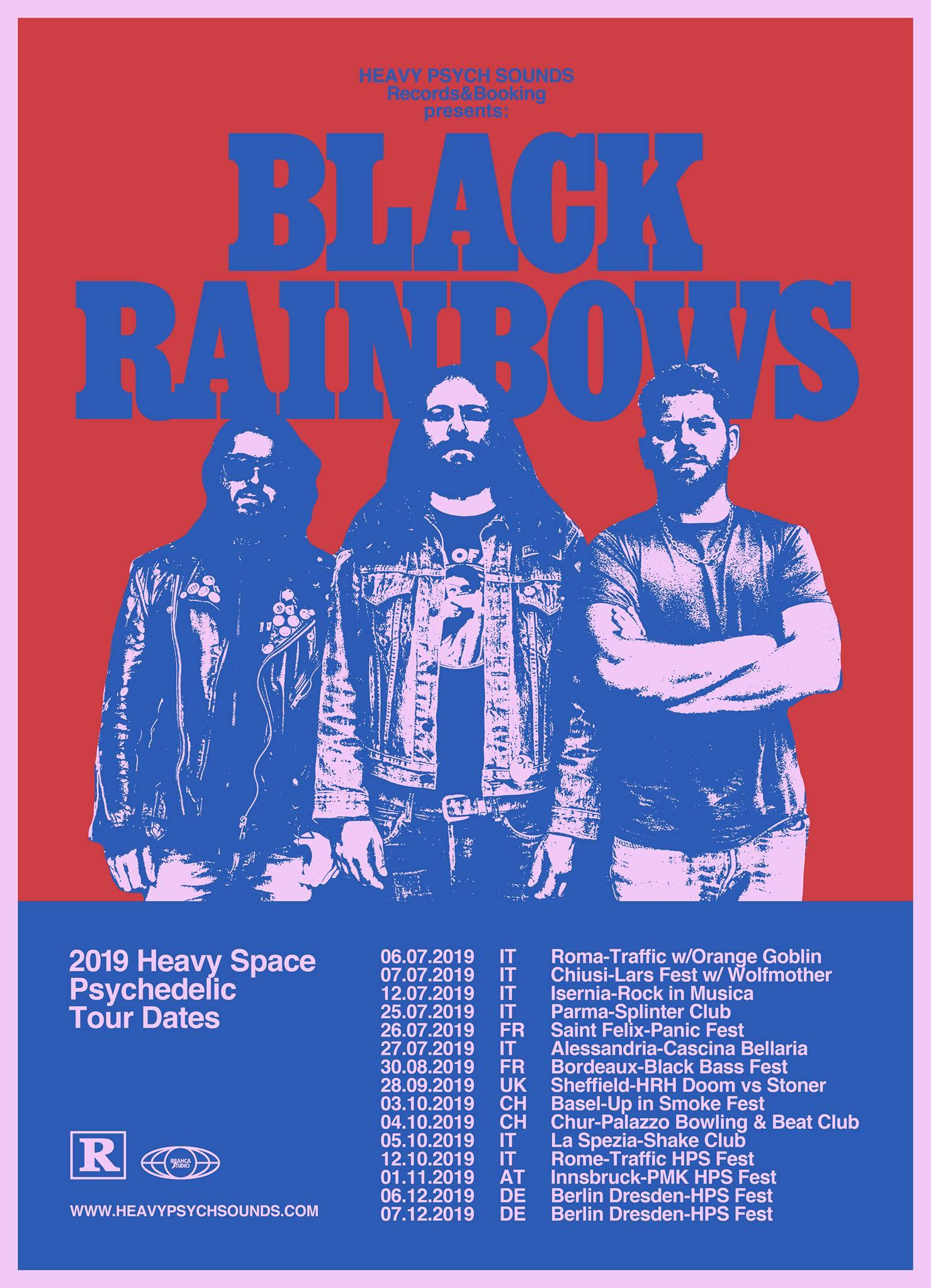 black rainbows tour dates
