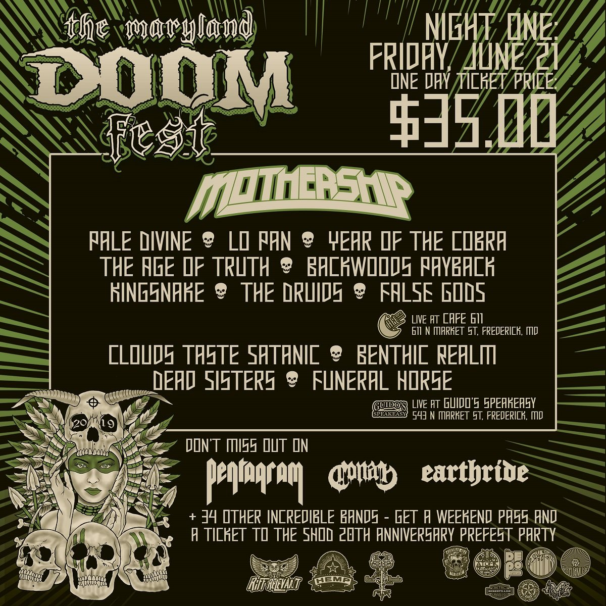 maryland doom fest 2019 night one